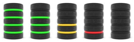 Serveur de base de données ou la capacité de la batterie Banque d'images