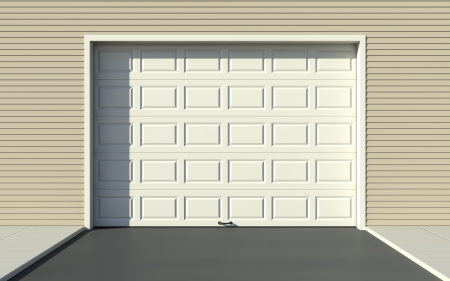 garage door: Sectional garage door Stock Photo