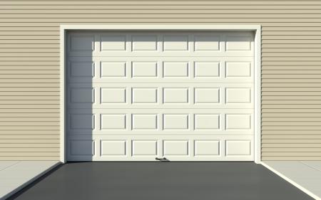 sectional door: Sectional garage door Stock Photo