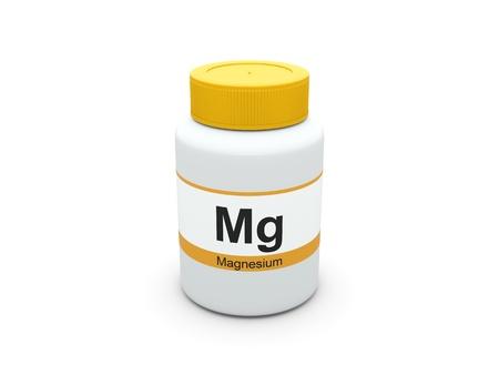 Magnesium ergänzt Flasche Lizenzfreie Bilder