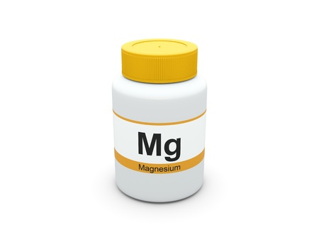 Magnesium supplements bottle Imagens - 15515995