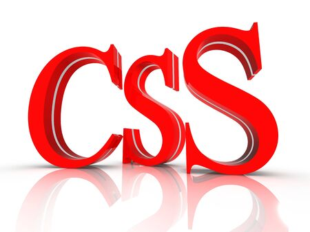 css: CSS technology internet symbol Stock Photo