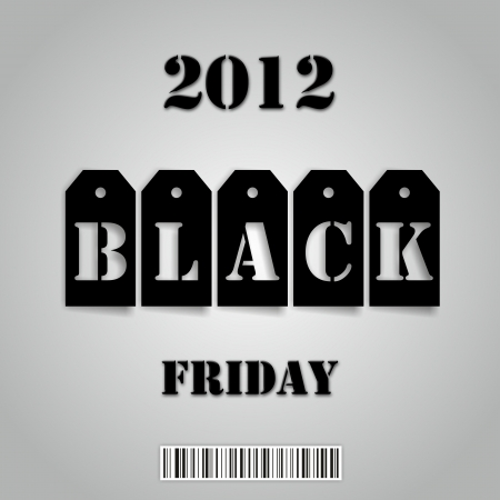 Black Friday 2012 Standard-Bild