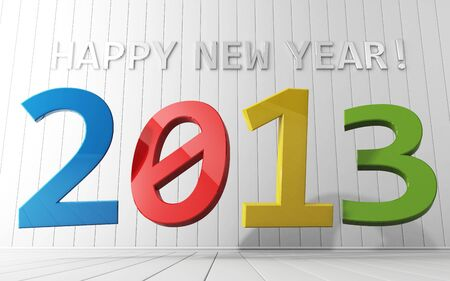 Happy New Year 2013 calendar background  photo