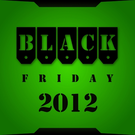 Black Friday 2012 green background Stock Photo - 16209522