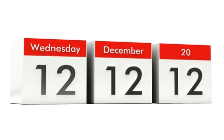 12.12.12 - Unique Day - Wednesday 12 December 201212.12.12 - Unique Day - Wednesday 12 December 2012 Stock Photo - 16282045