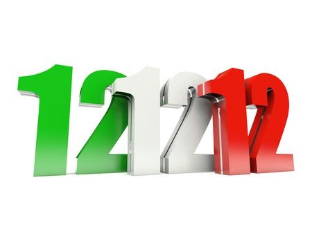 12.12.12 - Einzigartige Day - Mittwoch, 12. Dezember 2012 in Italien Lizenzfreie Bilder
