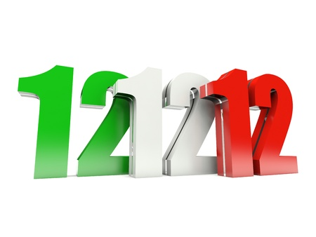 12.12.12 - Unique Day - Wednesday 12 December 2012 in Italy
