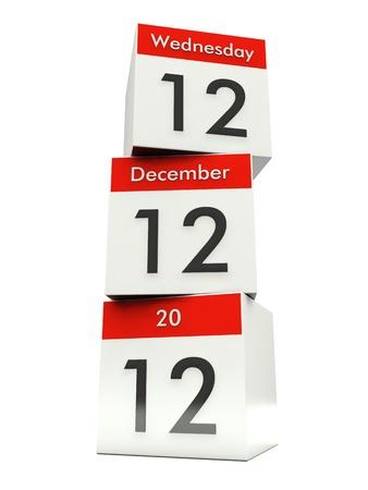 12 12 12 - Unique Day - Wednesday 12 December 2012 Stock Photo - 16282082