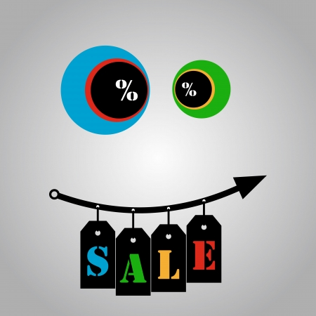cost reduction: Happy growth sales - hanging ribbons