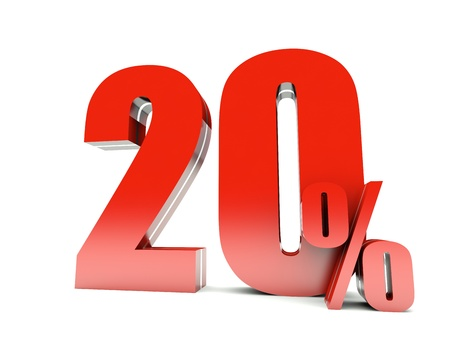 20 Percent off Standard-Bild