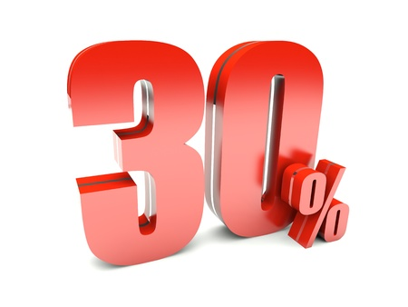 percentage sign: 30 Percent off