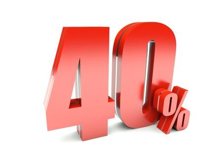 40: 40 Percent off