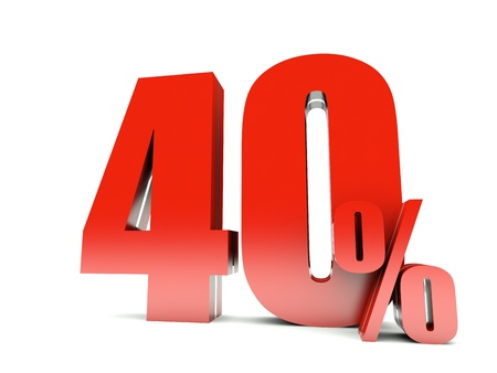 whit: 40 Percent off