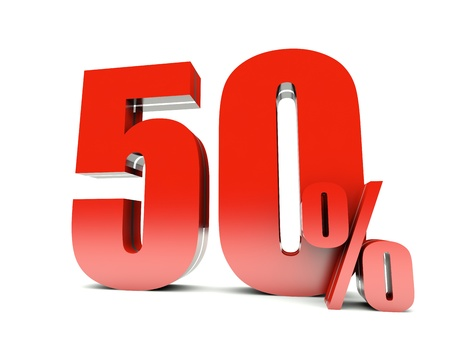 50 Percent off  Stock Photo