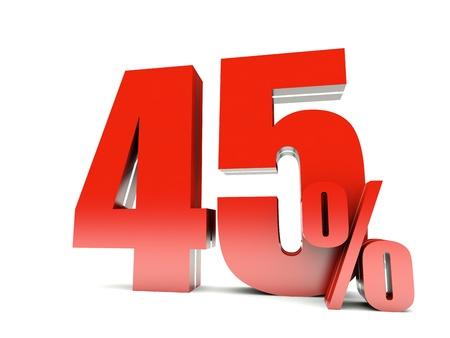 45: 45 Percent off