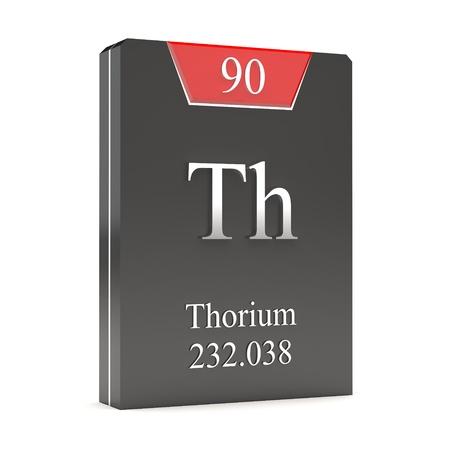 thorium: Thorium  Th - 90  from periodic table Stock Photo