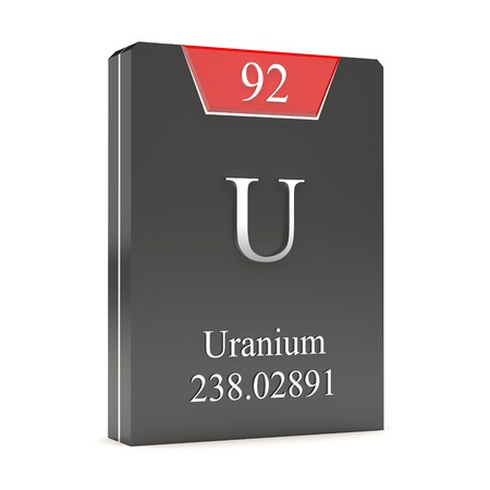 periodic table of the elements: Uranium  U - 92  from periodic table