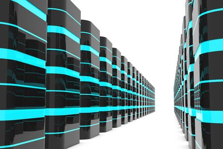 Database server room or data center Stock Photo - 17935558