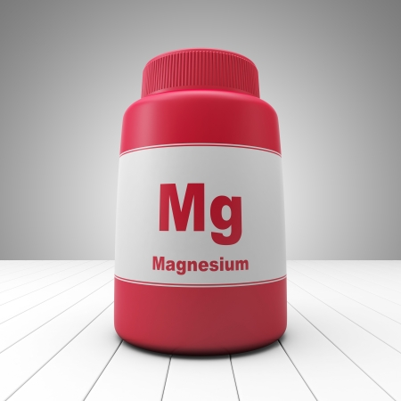 Magnesium supplements red bottle Imagens - 17935565