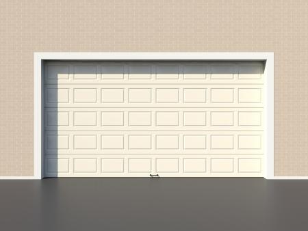 garage door: Modern white garage door Stock Photo