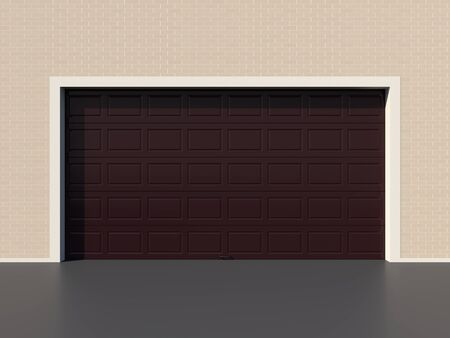 sectional door: Modern brown garage door