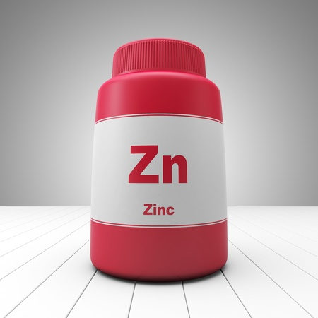 Zinc supplements red bottle Imagens - 17935569