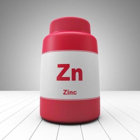 Zink Ergänzungen rote Flasche