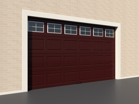 brown garage doors with windows. Modern Brown Garage Door With Windows Stock Photo - 18097352 Doors