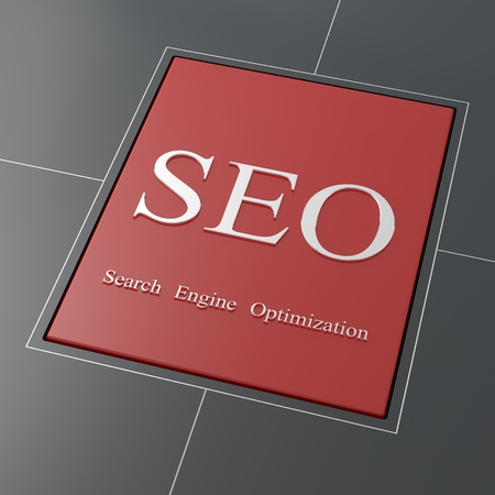 SEO red button Stock Photo - 19490920