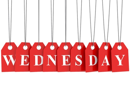 wednesday: Wednesday discount red etiquettes