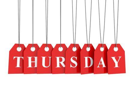 thursday: Thursday discount red etiquettes