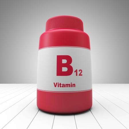 Vitamin B12 red bottle