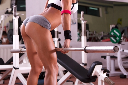 Very sexy young beautiful ass in thong at the gym club photo