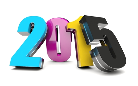 CMYK 2015 Happy New Year calendar background Imagens - 23204450