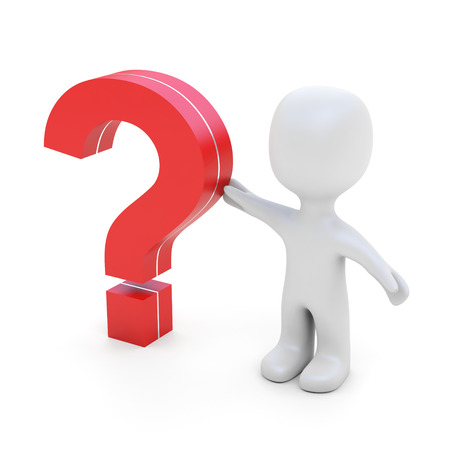 need help: I have a question  Big question mark  Need help  Stock Photo
