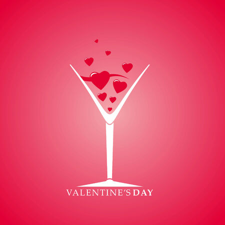 valentine s day background: Valentine s Day cocktail Stock Photo