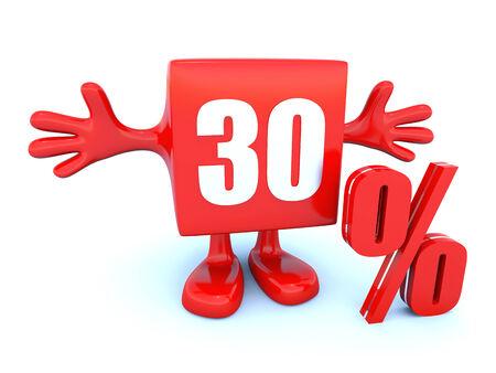 30 Percent off photo