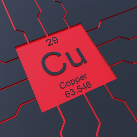 Copper Symbol Element From The Periodic Table Stock Photo Picture