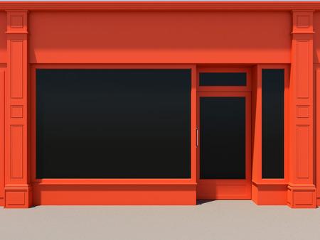 Shopfront with large windows Imagens