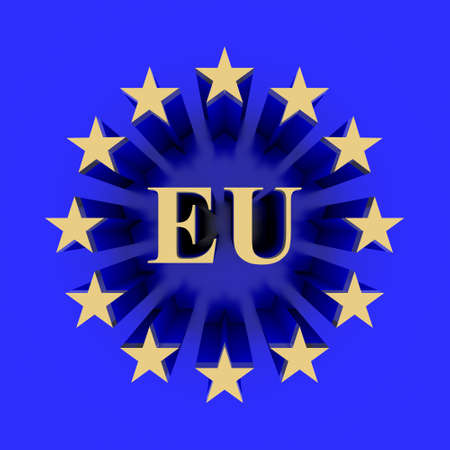 ec: European union  flag Stock Photo