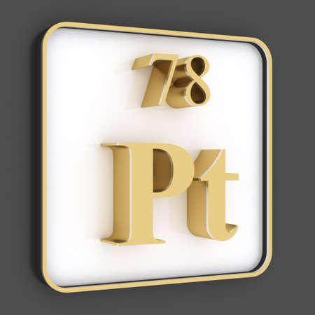 platinum: Platinum symbol from periodic table