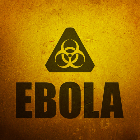 Ebola biohazard yellow alert sign photo