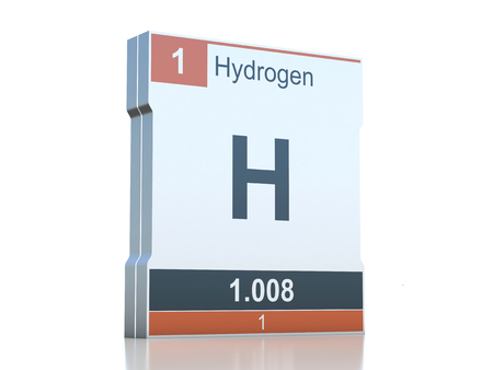 Hydrogen symbol - element from the periodic table