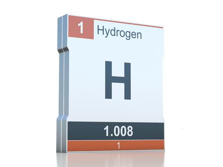 hidrógeno: Símbolo de Hidrógeno - elemento de la tabla periódica
