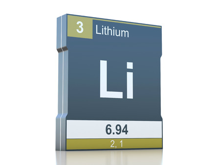 Lithium Symbol Element From The Periodic Table Stock Photo