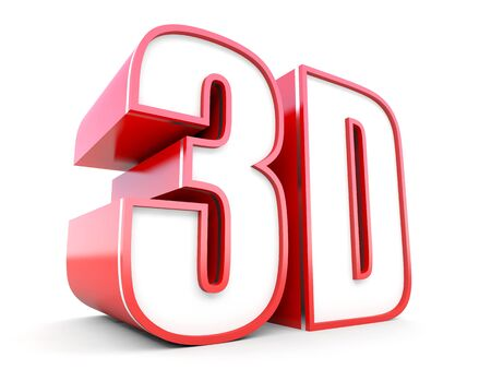 3d dimensional: 3D technology - three dimensional Stock Photo