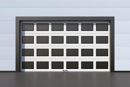 sectional door: Modern industrial door with windows Stock Photo