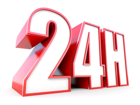 24 hours: 24 hours service text