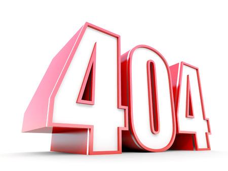 404 Error 3D typography photo